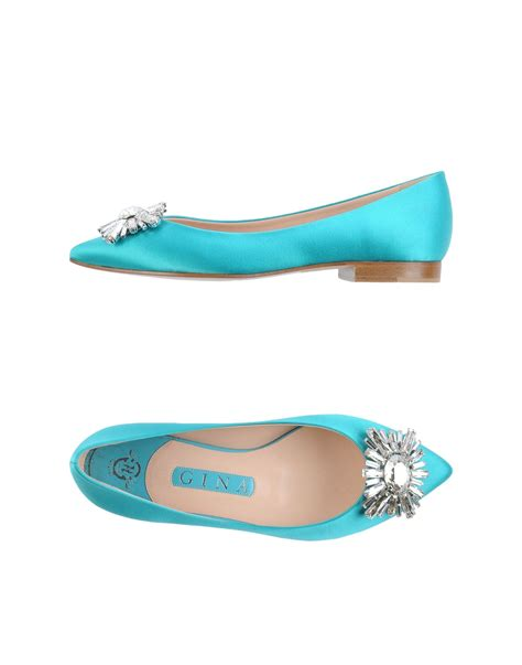 turquoise shoes flats lyst ballet flats in blue