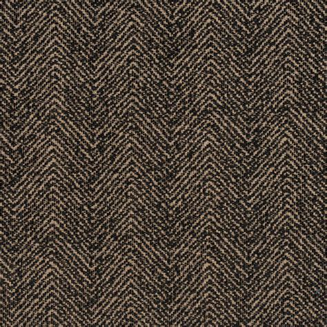 rattan upholstery fabric e730 brown and black herringbone woven textured upholstery