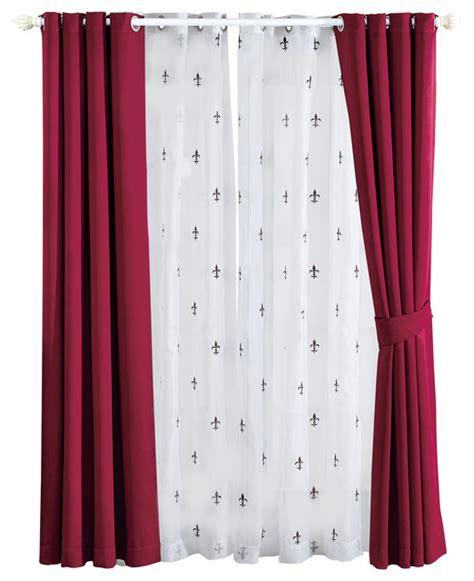 fleur de lis kitchen curtains fleur de lis blackout curtains 6 set burgundy 54