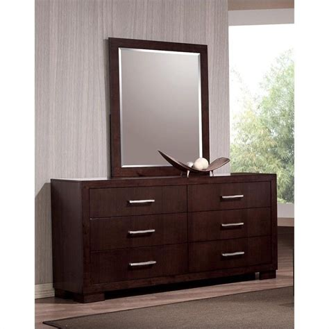 Cappuccino Dresser by Coaster Six Drawer Dresser In Light Cappuccino Finish 200713