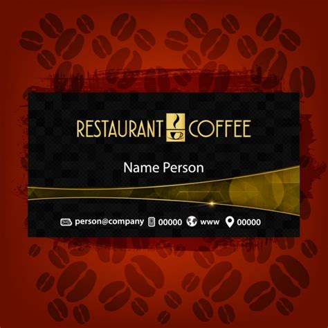 Http Www Freepik Free Vector Coffee Business Card Template 1105489 Htm by Coffee Business Card Vector Free