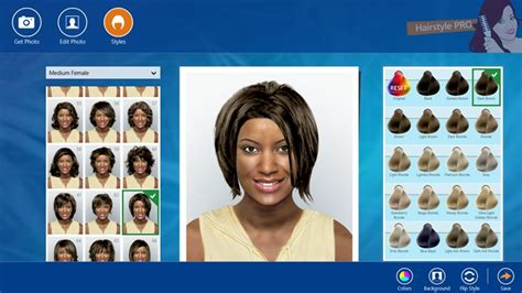 hairstyle design app hairstyle pro for windows 8 and 8 1