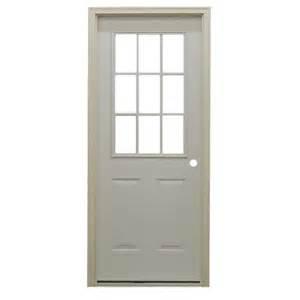 Prehung Exterior Doors 32 Quot 9 Lite Prehung Exterior Fiberglass Door Unit Bargain Outlet