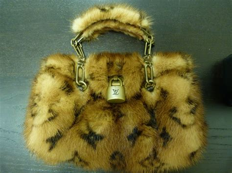 authentic louis vuitton leopard monogram mink fur special