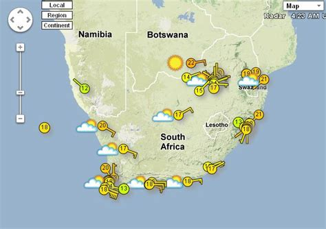 sa weather and disaster observation service weather