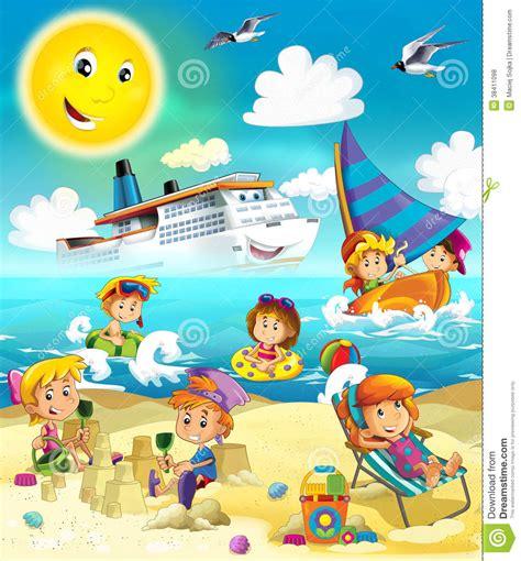 imagenes de niños jugando bajo el sol kids playing at the beach sea royalty free stock photos