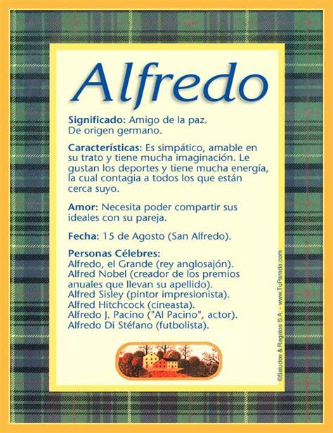Imagenes El Significado De Nombre Alfredo | alfredo significado del nombre alfredo nombres