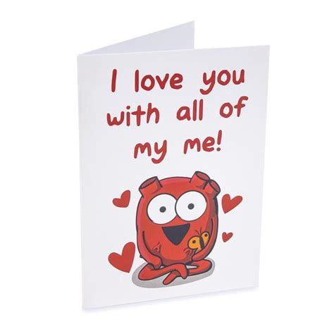 I Love Gift Cards - heart quot i love you with all of my me quot greeting card the