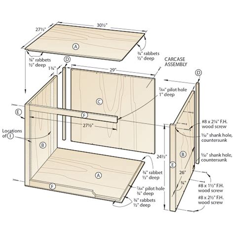 Plans Small Wood Shed Cabinet Carcass Construction Plans