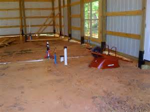 Roughing In Plumbing by How One Built His Pole Barn House Milligan S