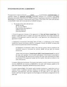 investor agreement template doc 545756 doc536716 investor agreement contract