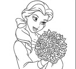 disney princess belle coloring pages kids