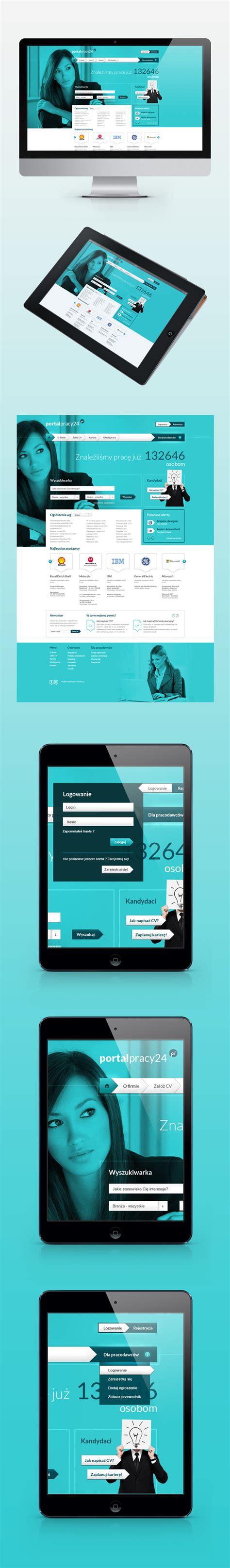 web design layout jobs portalpracy24 pl job portal by adam rozmus via behance