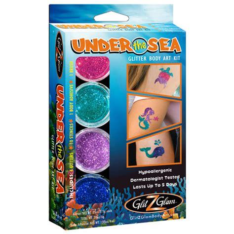 turtles tattoo kit under the sea glitter tattoo kit