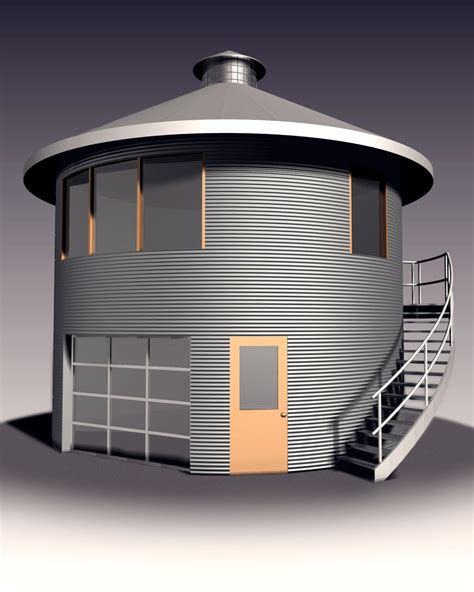 grain silo home plans silo house plans creating cylindrical prefab homes from