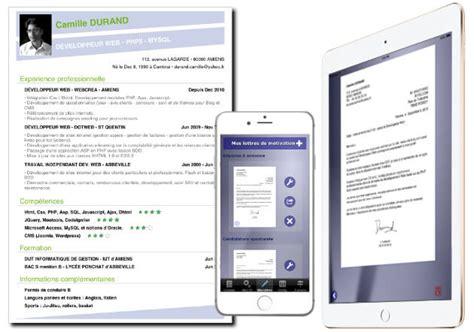 Exemple Lettre De Motivation Par Mail comment faire cv sur iphone et android
