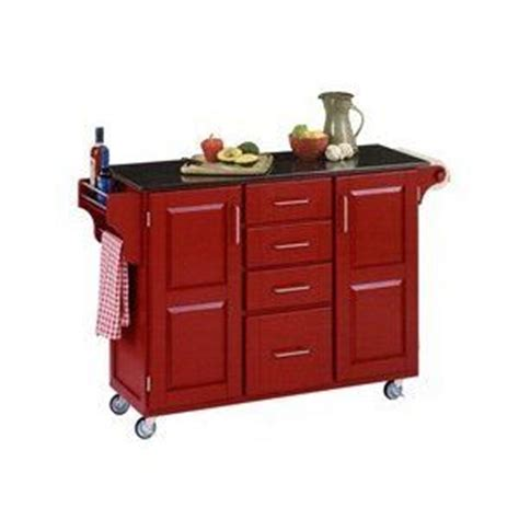 red kitchen island kitchen islands on wheels red kitchen island to compliment your red kitchen appliances