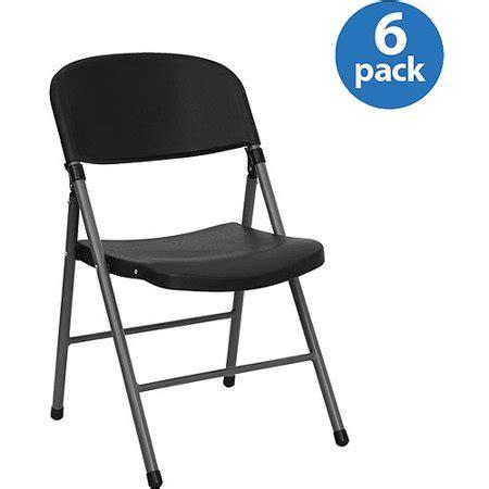 walmart folding chairs black plastic folding chair set of 6 walmart