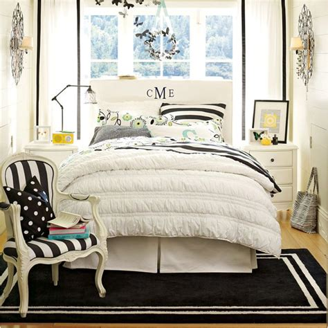 black and white teenage bedroom not pink and beautiful teen girl bedrooms room design inspirations