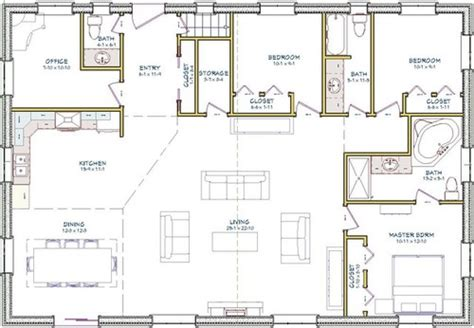 open concept bungalow floor plans house plans bungalow open concept 2998