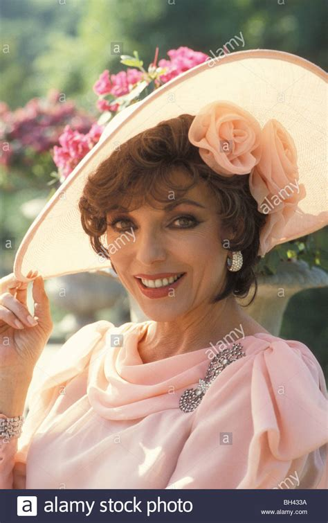 Joan Set joan collins as on the set of