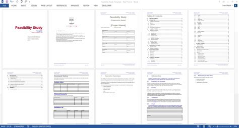 feasibility study ms word template instant