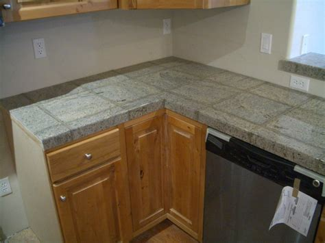Granite Tile Kitchen Countertops Granite Tile Kitchen Countertop And Bar
