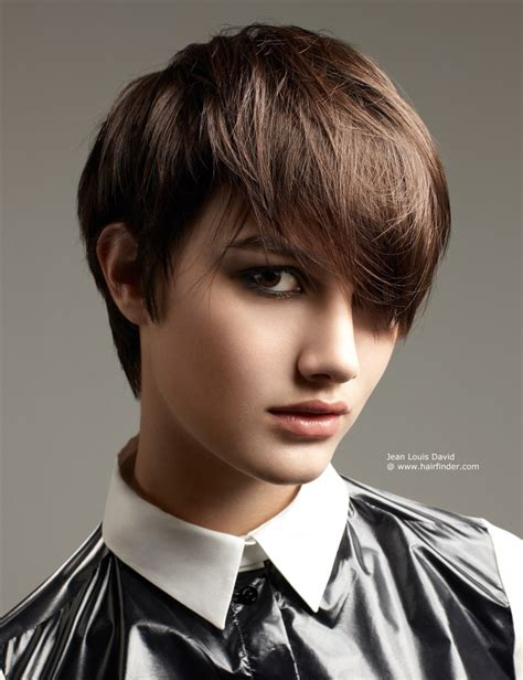 boyish hairstyles for pixie cut hairstyle with bangs for a boyish seductive look