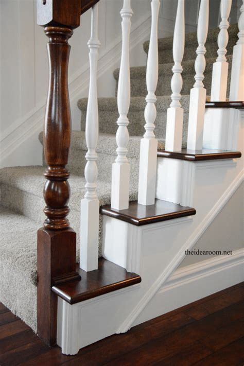banister wood how to stain an oak banister the idea room
