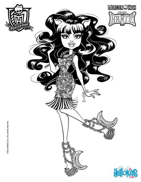 clawd wolf coloring pages hellokids com clawdeen wolf 2 coloring pages hellokids com