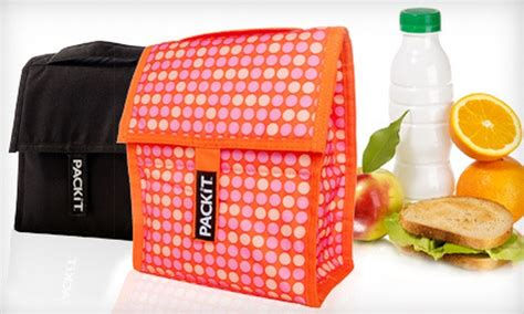 Cooler Bag Blueberry Black Mini Polka 19 for two packit freezable lunch bags groupon