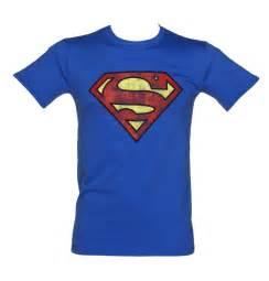 Logo T Shirt S Blue Distressed Superman Logo T Shirt