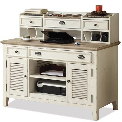credenza desk with hutch corner writing desk credenza with hutch by riverside