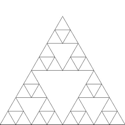 triangle pattern in python sierpinski design ideas pinterest
