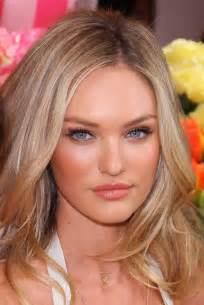 secret model with hair on the side and the back but hair on the top how does candice swanepoel look without make up