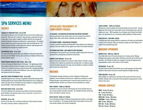 spa menu of services template 100 spa menu template 11 best free and premium