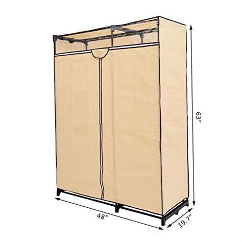 48 Wardrobe Closet by Homcom 48 Quot Portable Wardrobe Clothes Organizer
