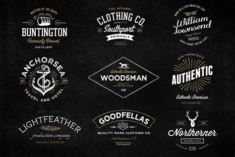 the handmade vintage logo bundle logo templates on