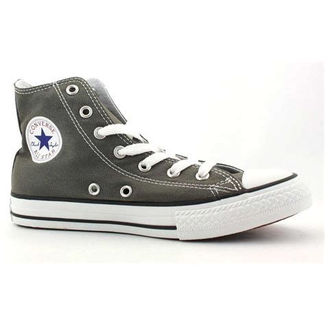 chuck shoes converse all chuck hi charcoal unisex trainers