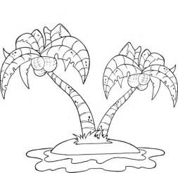 printable coconut tree template coconut tree coloring sheet coloring pages