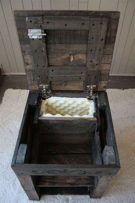 hidden compartment nightstand hidden compartment pallet wood nightstand by