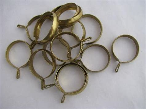 cafe curtain rings old brass curtain rings for cafe curtains retro vintage