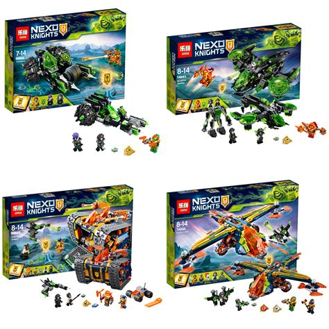 Lele 32011 1 4 Set Nexo Knights downtheblocks lepin 14040 14042 14044 some of the