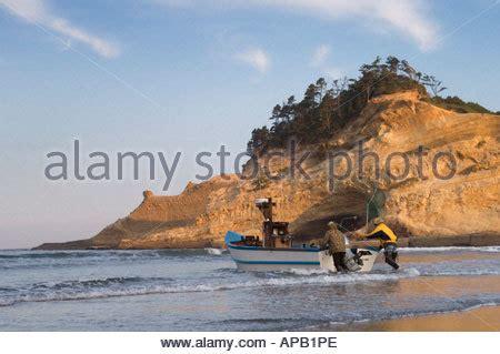 dory boat cape kiwanda dory fishing boats cape kiwanda pacific city oregon stock