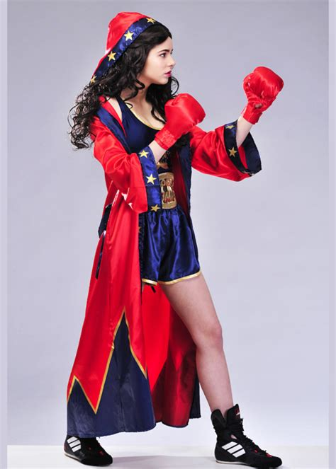 womens cute knockout boxer costume