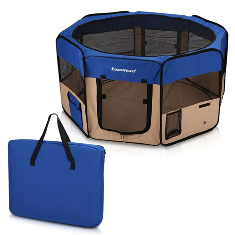 portable puppy playpen 125cm large soft pet playpen pen exercise puppy portable kennel tent crate