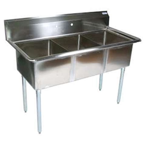 bk bks 3 1620 12 three compartment sink commercial