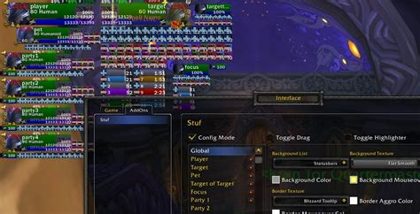 wow raid frame add ons stuf unit frames and raid unit mods world of