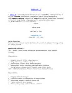 sle resume for fashion designer fashion design resume sle 28 images sle fashion resume