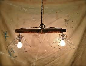 rustic light fixtures rustic hanging light fixture made from and plowing
